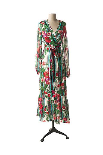 Robe longue vert JANE WOOD pour femme