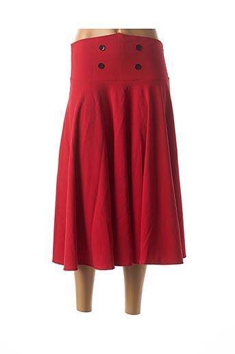 Jupe longue rouge BELSIRA pour femme