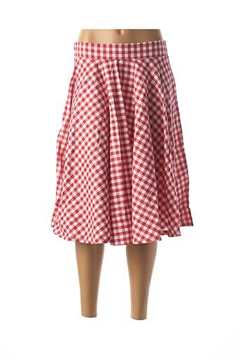 Jupe mi-longue rouge BELSIRA pour femme