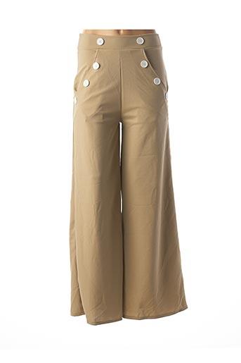 Pantalon casual beige BELSIRA pour femme