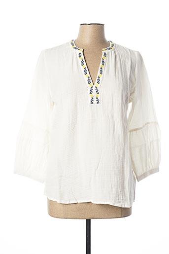 Blouse manches courtes blanc EDC pour femme
