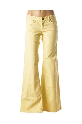 Jeans bootcut jaune SABBATH pour femme