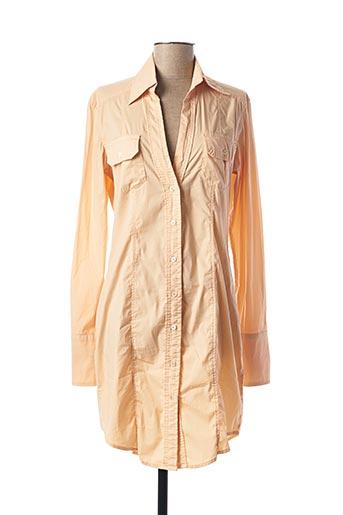 Robe mi-longue orange FREESOUL pour femme