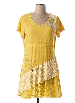 Tunique manches courtes jaune MALOKA pour femme