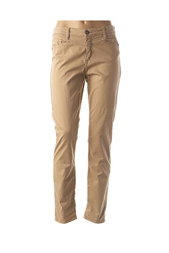 Pantalon casual beige EMMA & CARO pour femme