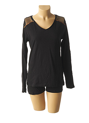 Pyjashort noir MELISSA BROWN pour femme