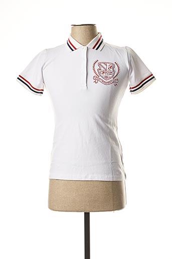 Polo manches courtes blanc COMPTOIR DU RUGBY pour femme