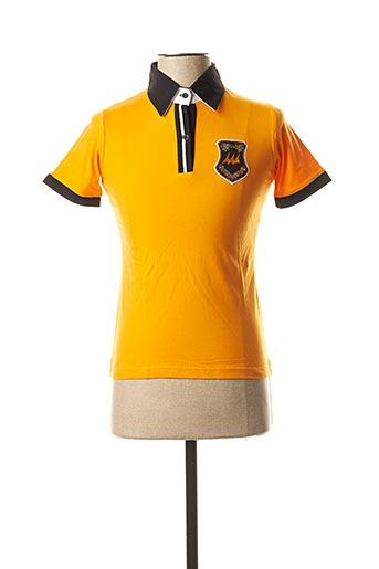 Polo manches courtes orange ERIC TABARLY pour femme