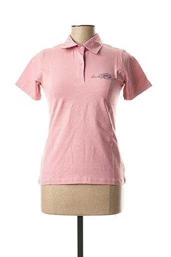 Polo manches courtes rose COMPTOIR DU RUGBY pour femme
