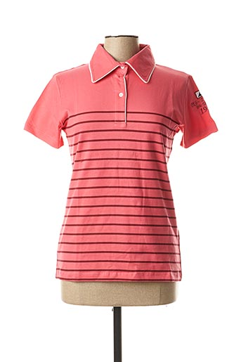 Polo manches courtes rose ERIC TABARLY pour femme