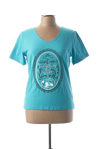 T-shirt manches courtes bleu COMPTOIR DU RUGBY pour femme