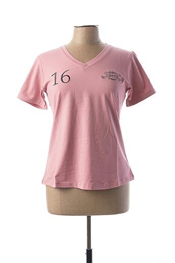 T-shirt manches courtes rose COMPTOIR DU RUGBY pour femme