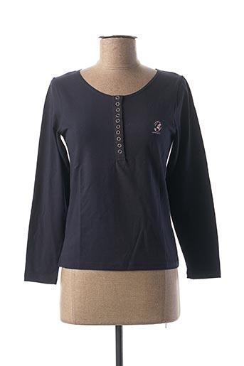 T-shirt manches longues bleu COMPTOIR DU RUGBY pour femme