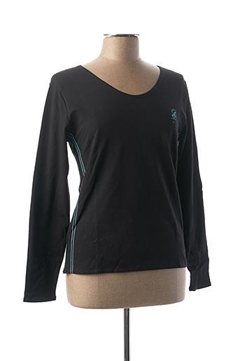 T-shirt manches longues noir COMPTOIR DU RUGBY pour femme