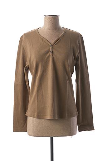 T-shirt manches longues vert CLOUD'S pour femme