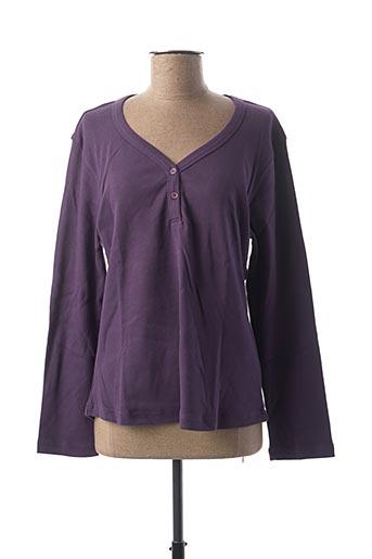 T-shirt manches longues violet CLOUD'S pour femme
