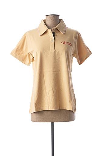 Polo manches courtes beige COMPTOIR DU RUGBY pour femme
