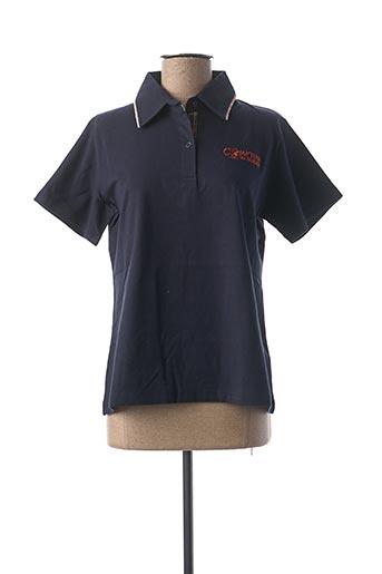Polo manches courtes noir COMPTOIR DU RUGBY pour femme