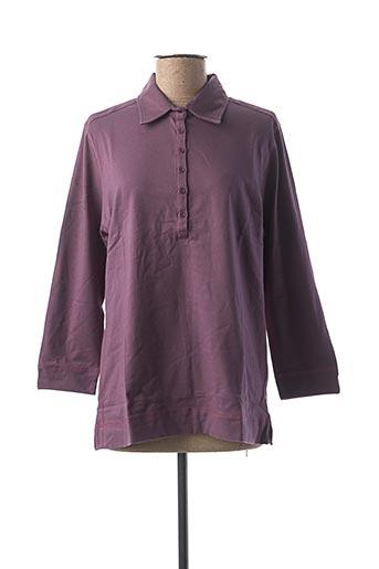 Polo manches longues violet CLOUD'S pour femme