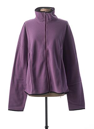 Gilet manches longues violet CLOUD'S pour femme