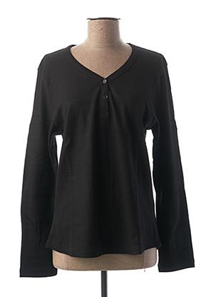 T-shirt manches longues noir CLOUD'S pour femme