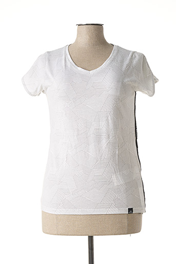 T-shirt manches courtes blanc EIDER pour femme