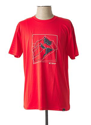T-shirt manches courtes rouge EIDER pour homme