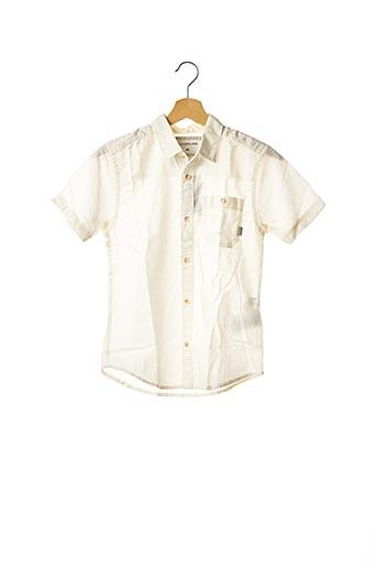 Chemise manches courtes blanc QUICKSILVER pour garçon