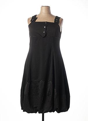 Robe mi-longue noir BE THE QUEEN pour femme