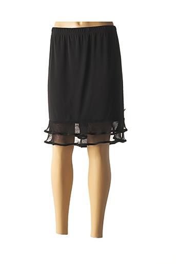 Jupe mi-longue noir EDMOND BOUBLIL pour femme