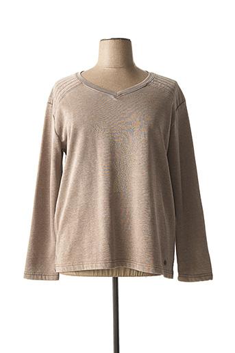 Sweat-shirt marron OPEN END pour femme