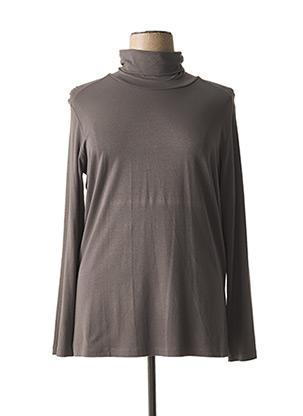 Sous-pull gris OPEN END pour femme