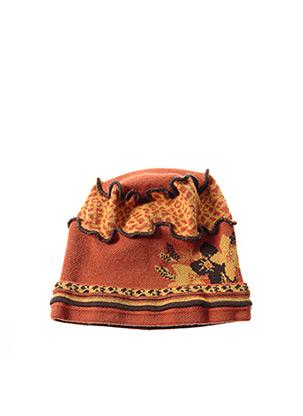 Bonnet orange GANTEB'S pour femme