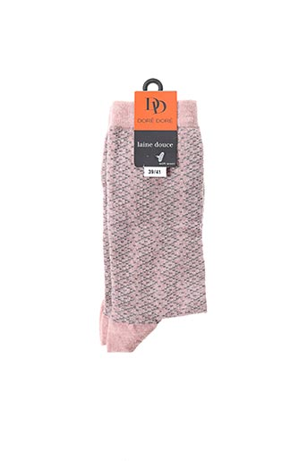 Chaussettes rose DORE DORE pour femme