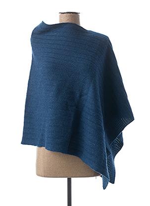 Poncho bleu BENSIMON pour femme
