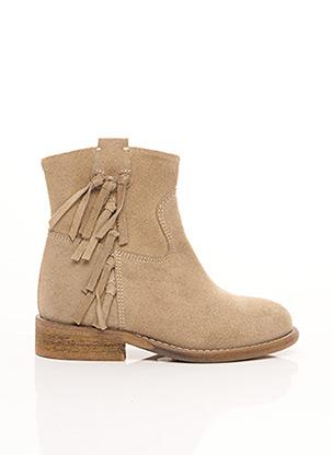 Bottines/Boots beige YEP pour fille