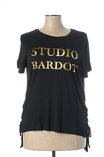 T-shirt manches courtes noir BRIGITTE BARDOT pour femme