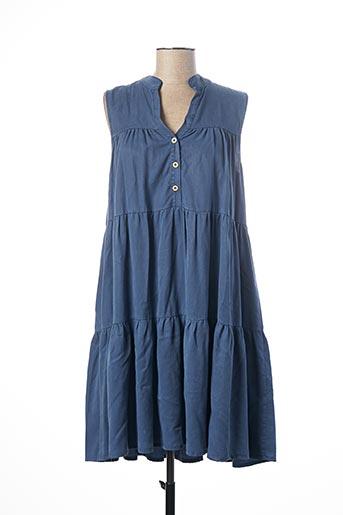 Robe mi-longue bleu PAKO LITTO pour femme