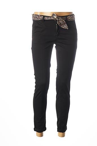 Pantalon 7/8 noir LE TEMPS DES CERISES pour femme