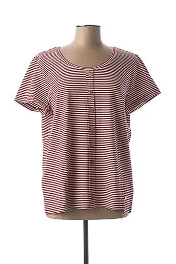 T-shirt manches courtes rouge KATMAI pour femme