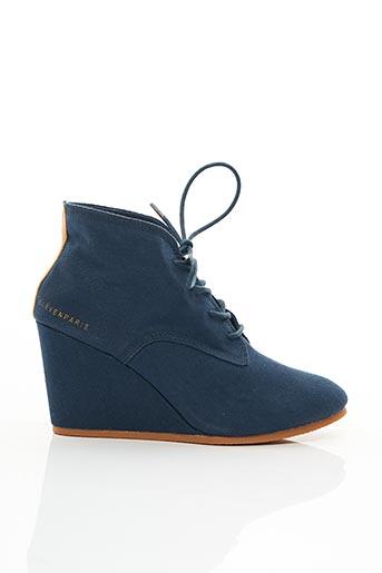 Bottines/Boots bleu ELEVEN PARIS pour femme