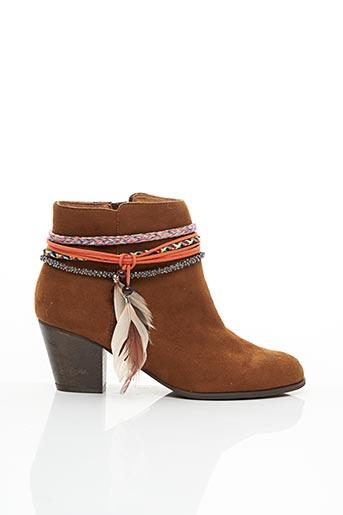 Bottines/Boots marron CHOCOLATE pour femme