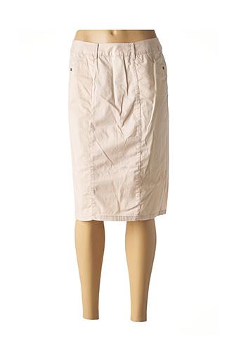 Jupe mi-longue beige EVER EASY BY JAC JAC pour femme