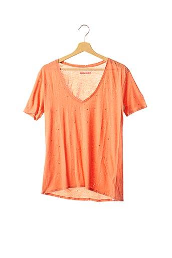 T-shirt manches courtes orange ZADIG & VOLTAIRE pour femme