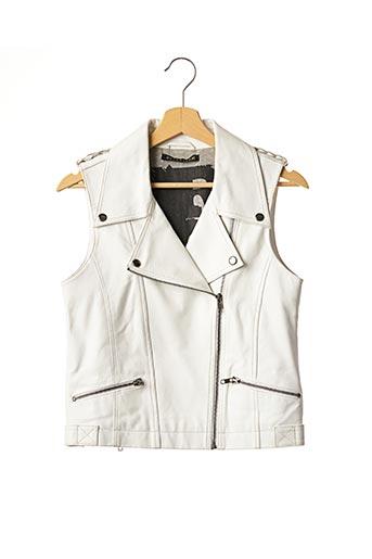 Veste en cuir blanc BERENICE pour femme