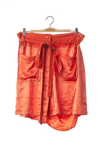 Jupe mi-longue orange ANN DEMEULEMEESTER pour femme