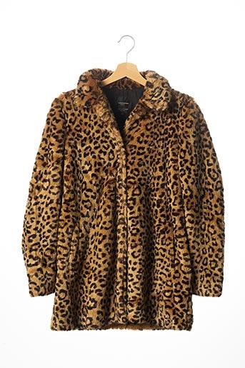 Manteau court beige ZARA pour femme