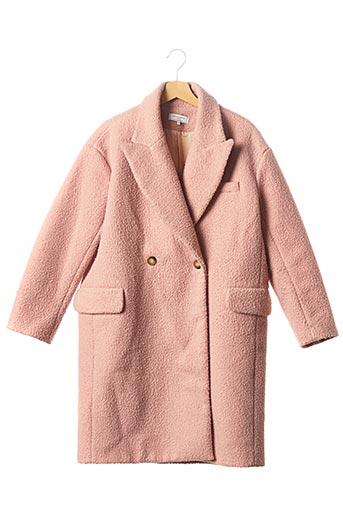 Manteau long rose OPPULENCE pour femme