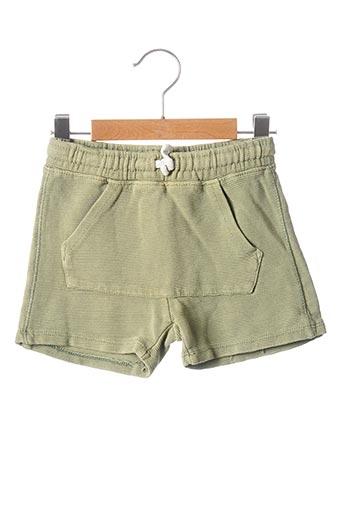 Short vert ZARA pour garçon