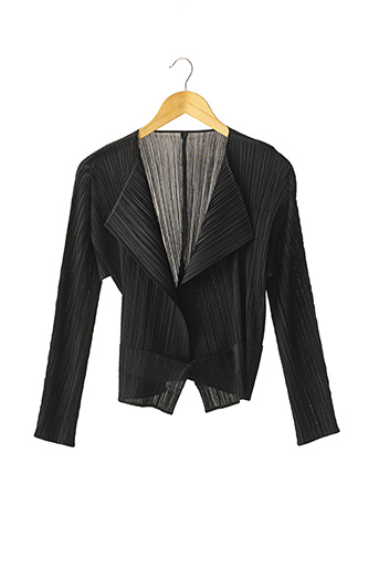 Gilet manches longues noir ISSEY MIYAKE pour femme